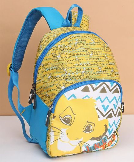 Disney Lion King Kids Bag Yellow Blue - 12 Inches