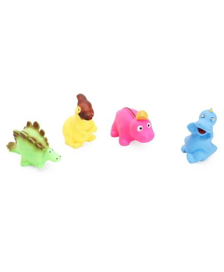 IToys Squeaky Bath Toy Aquatic Animal Multicolour - Pack of 4