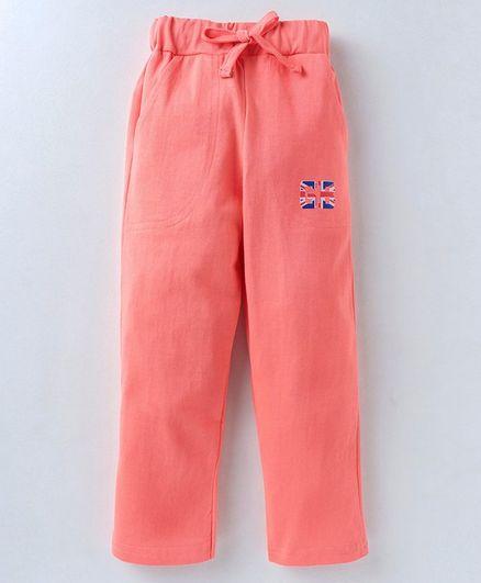 7dc92785df2 Buy Game Begins Elastic Waist Solid Lounge Pants Peach for Girls (3 ...