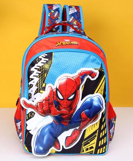 Marvel SpiderMan School Bag Multicolour Height 16 inches Online in India,  Buy at Best Price from Firstcry com - 2679244