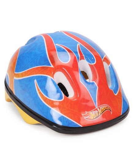 Hot Wheels Printed Helmet - Blue And Orange