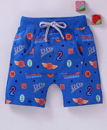 Olio Kids Shorts Speed Print - Blue