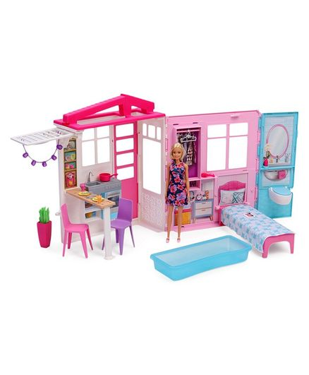 Barbie Doll With Doll House Accessories Pink Blue Online India Buy Dolls And Dollhouses For 3 8 Years At Firstcrycom 2681674