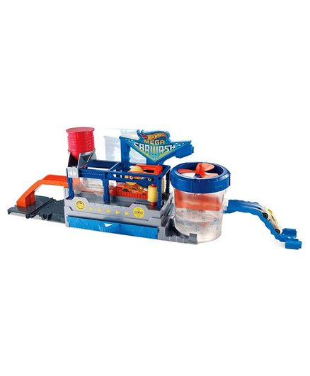 Hot Wheels Mega Car Wash Blue for (4-8 Years) Online India, Buy at  FirstCry com - 2681802