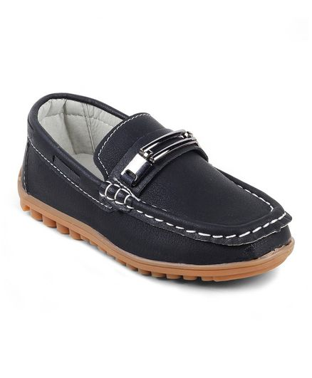 Kittens Shoes Buckle Detailed Loafers - Black