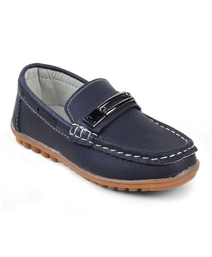 Kittens Shoes Buckle Detailed Loafers - Blue