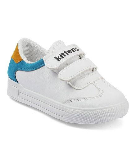7f298b2443 Buy Kittens Shoes Double Velcro Closure Sneakers Yellow for Boys (7 ...