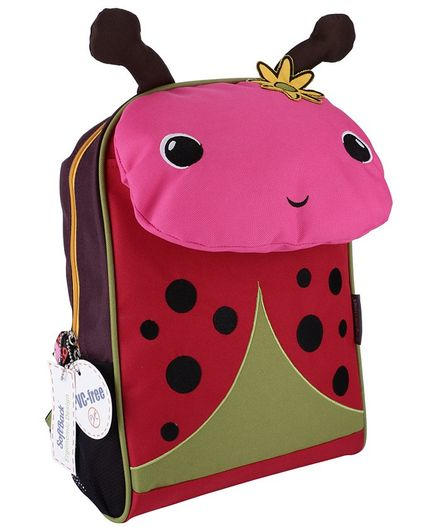 My Milestones Toddler Backpack Ladybug Pink & Red - 14 Inches