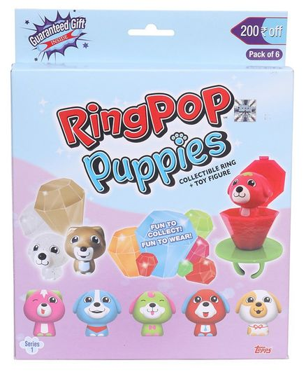 Topps Ring Pop Puppies Series - 1 pack of 6