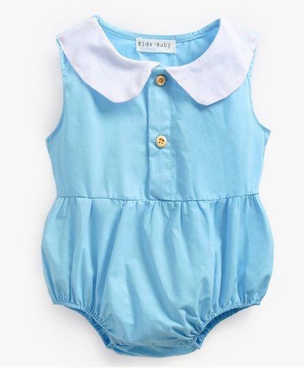 d3ab50f04 Buy Pre Order Awabox Solid Sleeveless Onesie Blue for Girls (12-18 ...