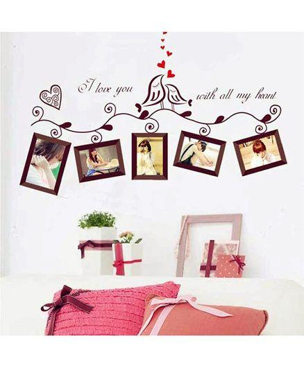 bf4b433db Syga Photo Frame PVC Vinyl Wall Sticker Brown Online in India