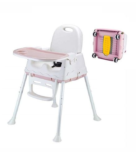 Syga 3 in 1 High Chair - Pink