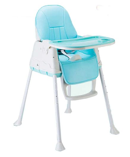 Syga Baby High Chair With Padded Seat - Blue