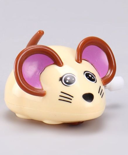 Wind Up Mouse Toy - Cream
