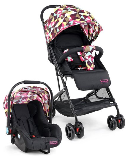Babyhug Opera Travel System - Black Pink Green