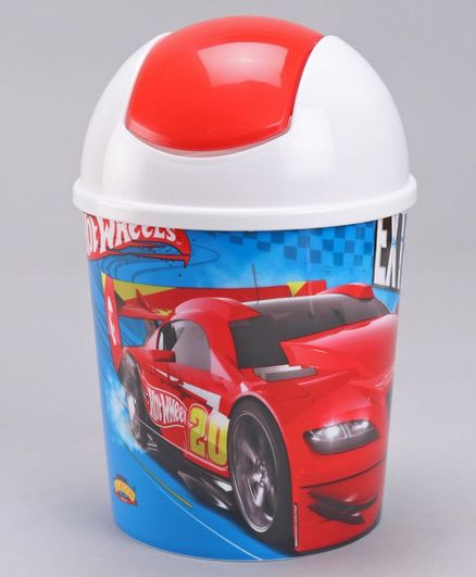 Hot Wheels Swing Bin Shape Pop Corn Holder - Red Blue