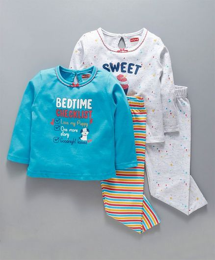 "Carter/'s /""Bedtime Checklist/"" Girls Pajamas 4-pc set 18 months 24 months"
