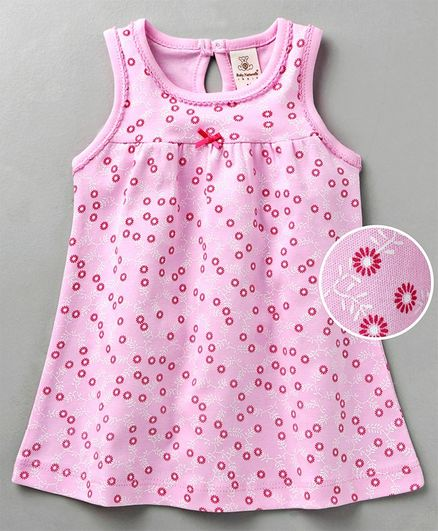 817d381754e Buy Baby Naturelle & Me Sleeveless Frock Floral Print Pink for Girls ...