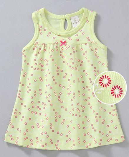 32ccec788e9 Buy Baby Naturelle & Me Sleeveless Frock Floral Print Lemon for Girls ...