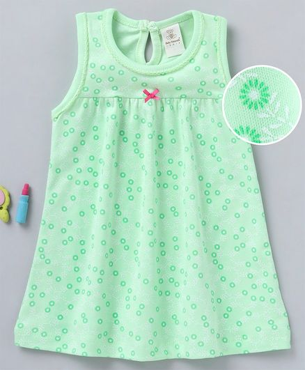 c65c7247513 Buy Baby Naturelle & Me Sleeveless Frock Floral Print Green for Girls ...