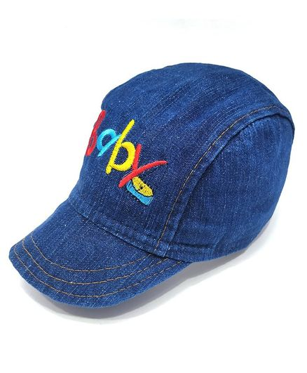 22566427b KidOWorld Baby Embroidered Denim Cap Blue Online in India, Buy at ...