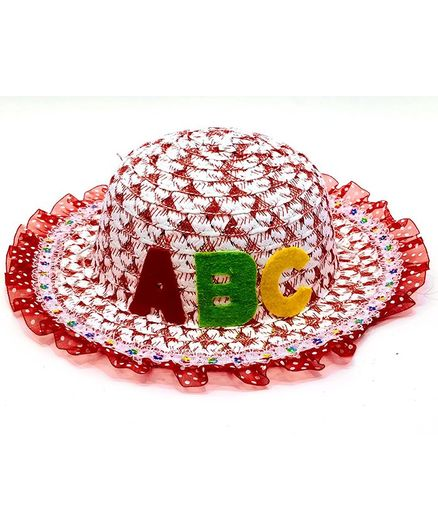 707bbff7ad8ec KidOWorld A B C Patch Straw Hat Red Online in India
