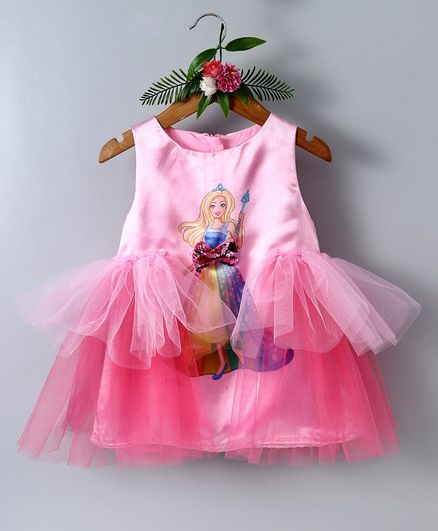 261313d1220a1 Buy Barbie By Many Frocks & Doll Print Sleeveless Dress Pink for Girls (6-7  Years) Online in India, Shop at FirstCry.com - 2707884