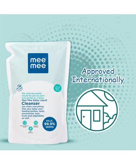 Mee Mee Baby Accessories And Vegetable Liquid Cleanser - 1.2 Liters