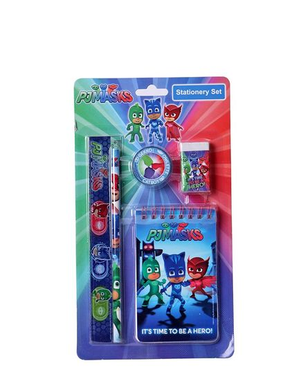 Disney PJ Mask Stationery Kit Blue - Set of 5 Pieces