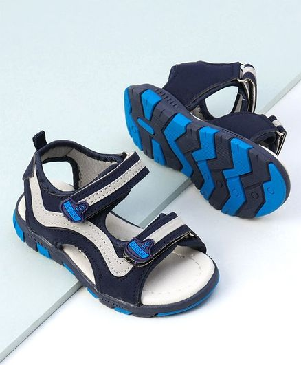 Cute walk by Babyhug Sandals  - White Blue