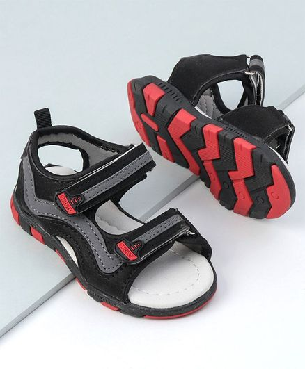Cute walk by Babyhug Sandals  - Grey Red