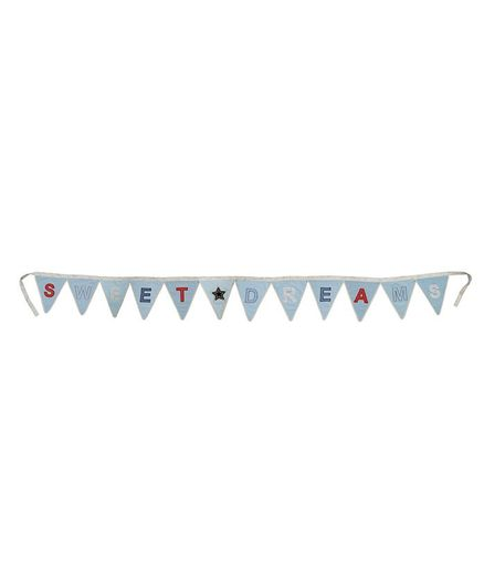 Abracadabra Decorative Sweet Dreams Bunting Banner - Blue