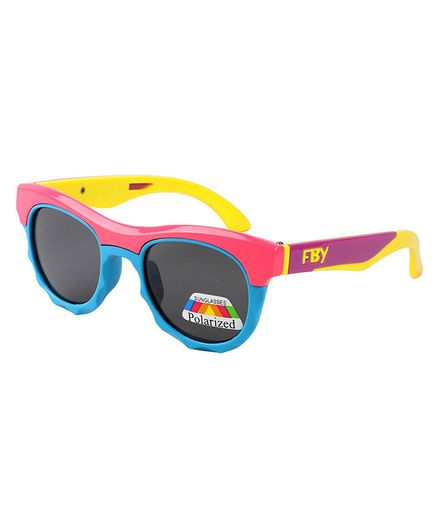 Spiky Colorblock Polarised UV Protected Sunglasses - Pink