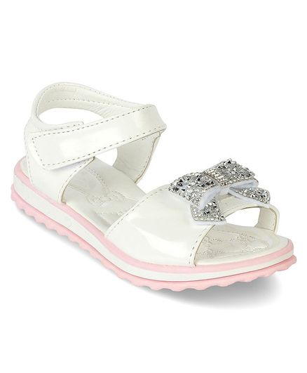 9a6305a666 Buy Kittens Shoe Embellished Bow Applique Sandals White for Girls (3-3  Years) Online, Shop at FirstCry.com - 2741562
