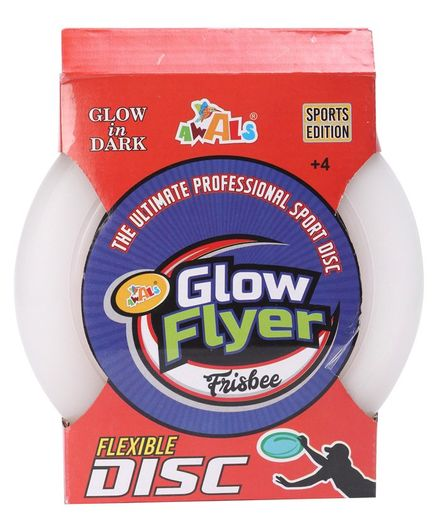 Awals Glow in The Dark Flyer Frisbee - White