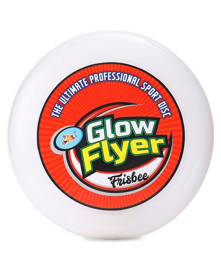 Awals Glow in The Dark Flyer Frisbee Big - White