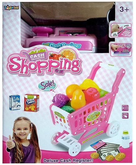 Toyshine Supermarket Shopping Cash Register Play Set With Shopping Cart &  Barcode Scanner Pink Online India, Buy Pretend Play Toys for (3-8 Years) at