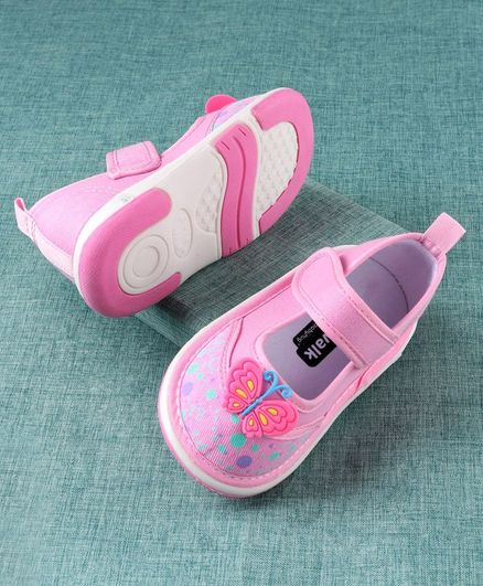 Cute Walk By Babyhug Casual Shoes Butterfly Motif - Pink