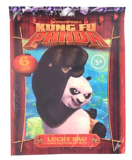 Kung Fu Panda Lucky Bag Pack of 6 - Red