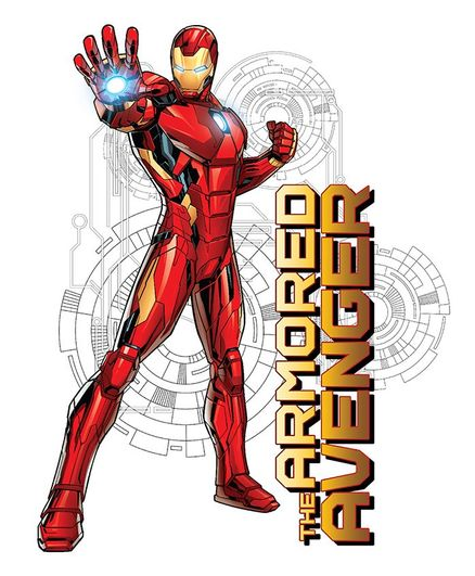 Asian Paints Iron Man The Armoured Avengers Wall Sticker XL - Red