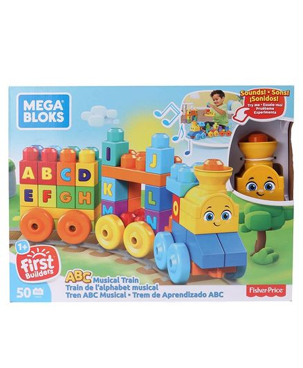 Mega Bloks ABC Musical Train Toy Multicolour - 50 Pieces