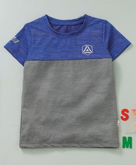 Meng Wa Half Sleeves Tee - Grey Blue