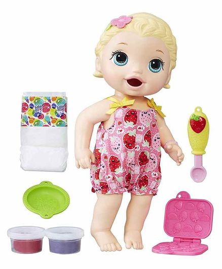 Baby Alive Snackin Lily Doll Multicolour Height 30 5 Cm Online India Buy Dolls And Dollhouses For 3 6 Years At Firstcry Com 2758745