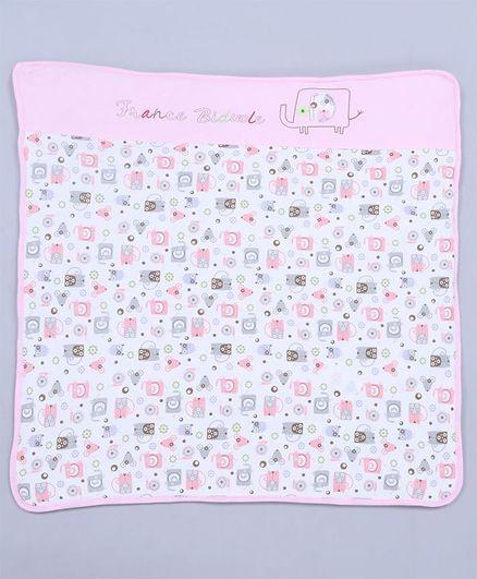 d5d5335aad6 Babyhug Interlock Hooded Bag Animal Print Pink Online in India, Buy ...