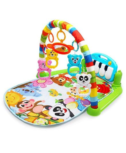 Syga Baby Play Gym Kick & Play Piano With Lights And Music - Multicolor