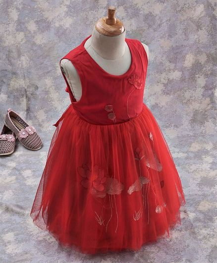 6858661caf010 Buy Kookie Kids Floral Embroidered Party Wear Frock Red for Girls (6-9  Months) Online in India, Shop at FirstCry.com - 2766285