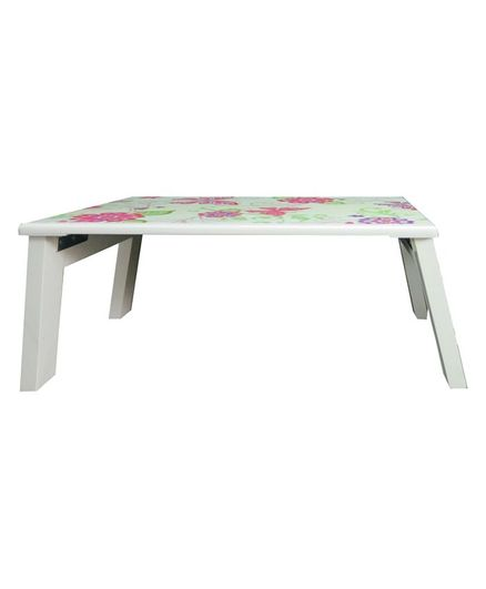 Astounding Kidoz Wooden Floral Printed Bed Table White Online In India Buy At Best Price From Firstcry Com 2767328 Ncnpc Chair Design For Home Ncnpcorg