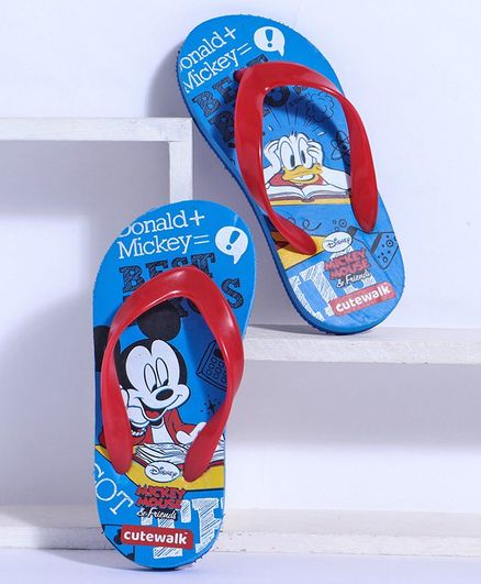 NWT Disney store Boy Mickey Mouse and Donald Duck Flip Flops Sandals Shoes