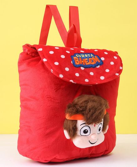 Chhota Bheem Kung Fu Dhamaka Bheem 3D Face Plush Bag Red Height 12 inches  Online in India, Buy at Best Price from Firstcry com - 2769133