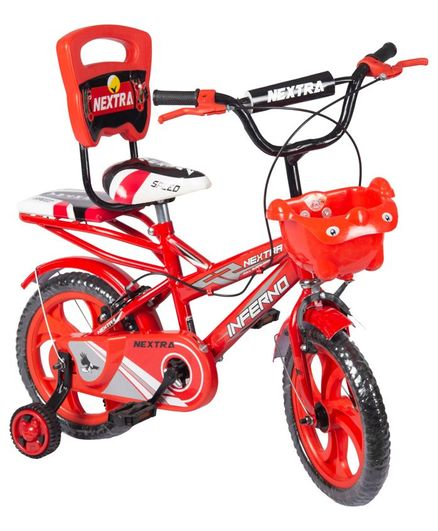 Speed Bird 12 T Robust Double Seat Bicycle - Red